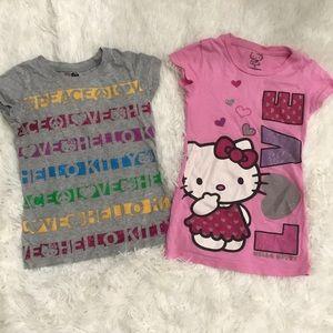 Bundle (2) EUC Hello Kitty T's